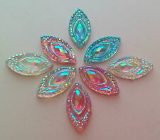 15 x marquise sew on stones 9mm x 18mm dance, trim,gem,crystal, ,stick on