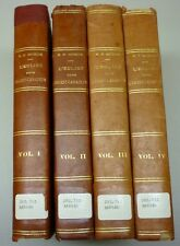 Antique 1921 Histoire De L'Église Catholique 4 Volumes Hard Cover Books