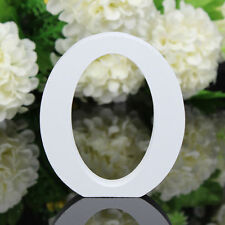 1Pcs Wooden Wood White Alphabet Letters Wedding Party Home Nursery Decor A25