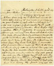 1853 Letter From Washington DC regarding Orchards and Fruit Growing