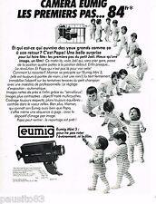 PUBLICITE ADVERTISING 065  1980  EUMIG  caméra  MINI 3 les premiers pas  de bébé