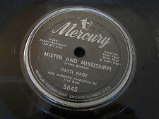 PATTI PAGE   MISTER AND MISSISSIPPI / THESE THINGS I OFFER YOU   MERCURY   78T