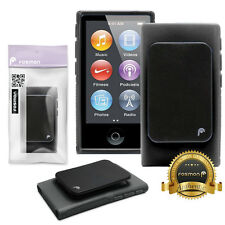 Fosmon Hybrid TPU Slim Clip Case Cover Skin for Apple iPod Nano 7th Gen - Black