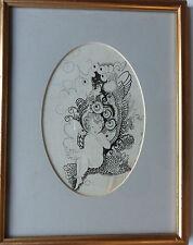 Katie blackmore rba Aswa (FL1913-1950) original signée crayon & encre dessin C1920'S