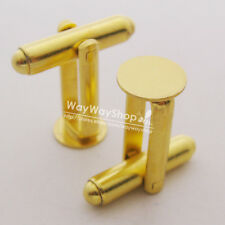 "10 30 50 100 blank Metal Cufflinks Cuff links Findings 8mm 5/16"" Pad pick color"