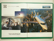 12/1997 PUB AVION BOMBARDIER CHALLENGER 604 BUSINESS JET BIZJET ORIGINAL ADVERT