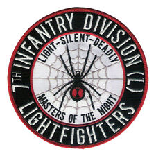 "New 5 1/2"" 7th Infantry Division - Lightfighter - Black Widow Embroidered Patch"