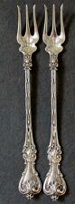 """2 WHITING STERLING KING EDWARD COCKTAIL SEAFOOD OYSTER FORKS 6 1/8"""" '01 PAT """"C"""""""