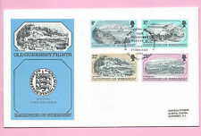 GUERNSEY 1982 Official FDC - OLD GUERNSEY PRINTS - V. Fine