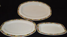 Lot Of (3) TK Thuny Czechoslovakia Serving Platters