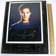 "Terry Farrell as Jadzia Dax AUTOGRAPHED 8X10 Photo/Plaque 13x10.5"" STAR TREK DS9"