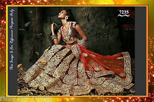 Actual Pics-Bollywood Indian PAkistani Heavy Bridal Party Lehenga Lehnga Saree