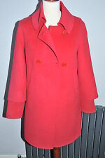 MAX MARA STUDIO new CORAL Angora & Cashmere coat UK 8  SMALL 10