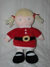 Just one Year Carter's PLUSH GIRL SANTA HELPER Blonde Doll Blue Eyes Baby