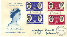 BAHAMAS 1966 ROYAL VISIT Stamp Set x 2 on ILLUSTRATED FIRST DAY COVER Re:CW165