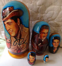 ELVIS PRESLEY RUSSIAN NESTING DOLL 5 PCS  LARGE 6.0*