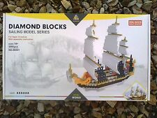 Kawada Nanoblock TIN-04  TINTIN The Unicorn look alike   sailboat  sailing ship