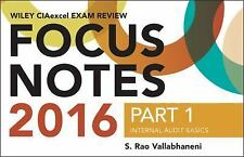 NEW Wiley Ciaexcel Exam Review 2016 Focus Notes by S. Rao Vallabhaneni Paperback