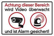 Video überwacht Blechschild Schild Blech Metall Metal Tin Sign 20 x 30 cm