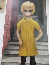 "Rare Walter Keane BIG EYES vintage LARGE 18 1/4"" X 34""  Lithograph ""The WAIFS"""
