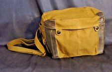 "MILITARY CANVAS BAG VIETNAM CHINESE SURPLUS W/ STRAP 8"" X 6"" X 5""  Army Pouch"