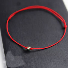 tiny gold bead red cord handmade expand bracelet wish bracelet birthday gift hot