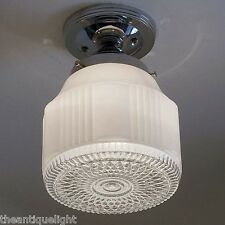 836 Vintage art DEco Ceiling Light Lamp Fixture Glass bath hall porch kitchen