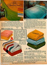 1969 ADVERTISEMENT Blanket Hudson's Bay 4 Point England Wool Forstman Stevens