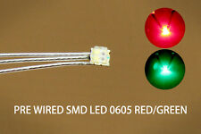 DT0605RG 20pcs Pre-soldered litz wired leads Bi-color RED/GREEN SMD Led 0605 NEW