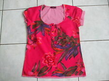 TRES BEAU CHEMISIER CHEMISE BLOUSE AMPLE IMPRIMEE ROSE ONE STEP TAILLE 36 TBE