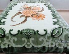 Vivalon Green Roses (BM127) Korean Mink Blanket King Size - By Solaron