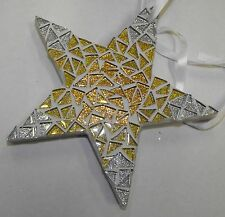 Mosaic kit - Glitter star complete 15cm x 15cm x 12mm with glass glitter tiles