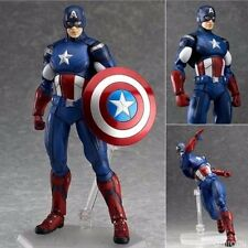 Figma Marvel The Avengers Captain America PVC Action Hero Figure Toy Figurine Fs