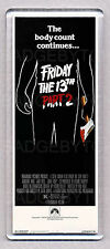 FRIDAY THE 13th Part 2 movie poster LARGE 'WIDE' FRIDGE MAGNET - HORROR CLASSIC!
