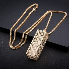 New Elegant Women Fashion Charm Choker Chunky Gold Plated Chain Necklace Pendant