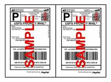 1000 Economy Thin Self Adhesive Shipping Labels 2 labels Per Sheet for USPS