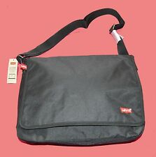 "BNWT LEVI'S  MESSENGER  LAPTOP BAG 13.3"" BLACK WITH KEY FOB Guaranteed Original"