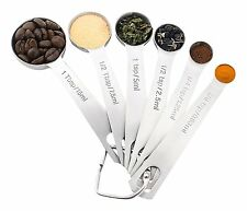 18/8 Stainless Steel Measuring Spoons,Set of 6 for Measuring Dry and Liquid