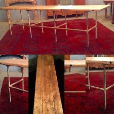 table de drapier ,assature en tube de fer ,plateau sapin lmassif .XX siècle .