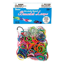 Stretch Rubber Band Bracelet Loops and S-Clips Mix - 312 pieces   BZ