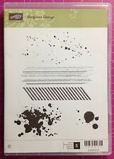 Stampin Up! Gorgeous Grunge Clear Mount Stamp Set Splatter Spots NEW