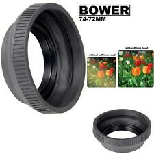 Bower Rubber Lens Hood For Sony DSC-H50 DSC-H9 DSC-H7 (74-72mm)