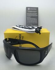 Authentic VONZIPPER Sunglasses VZ CLUTCH Shiny Black Frame w/ Grey lenses