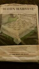 "Bucilla Jiffy Cross Stitch Double Size Quilt/Bedspread ""Acorn Harvest"" Kit 3218"