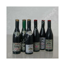 Dolls House 12th scale - Wine Bottles, Pack of 6