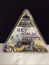 KEY NINJA KEY HOLDER with LED FLASHLIGHT and S HOOK CLIP holds up to 30 KEYS