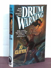 1st, signed by mapmaker, Drums of Chaos 1: Drum Warning by Jo Clayton (1996)