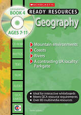 SCHOLASTIC KS2 READY RESOURCES & CD ROM GEOGRAPHY BOOK 4 AGES 7-11 KEY STAGE 2