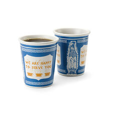 Kikkerland Classic NYC Porcelain Espresso Cup Set of 2 BRAND NEW!!!