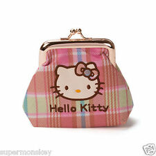SANRIO HELLO KITTY COLOR PLAID SERIES COIN PURSE RD00149